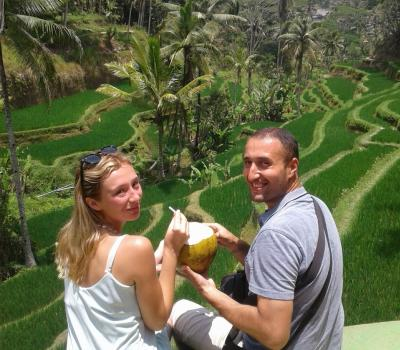 Taxi Driver Service to Tegalalang Rice Terrace Bali