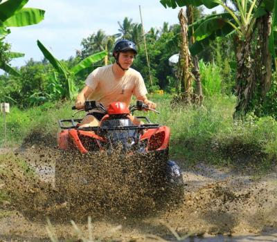 Bali Atv Quad Bike Adventure on Rice Fields and Forest Route
