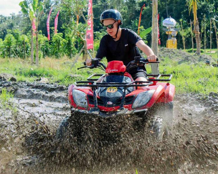 Bali Quad Bike Adventure with Jungle Forest and Temple