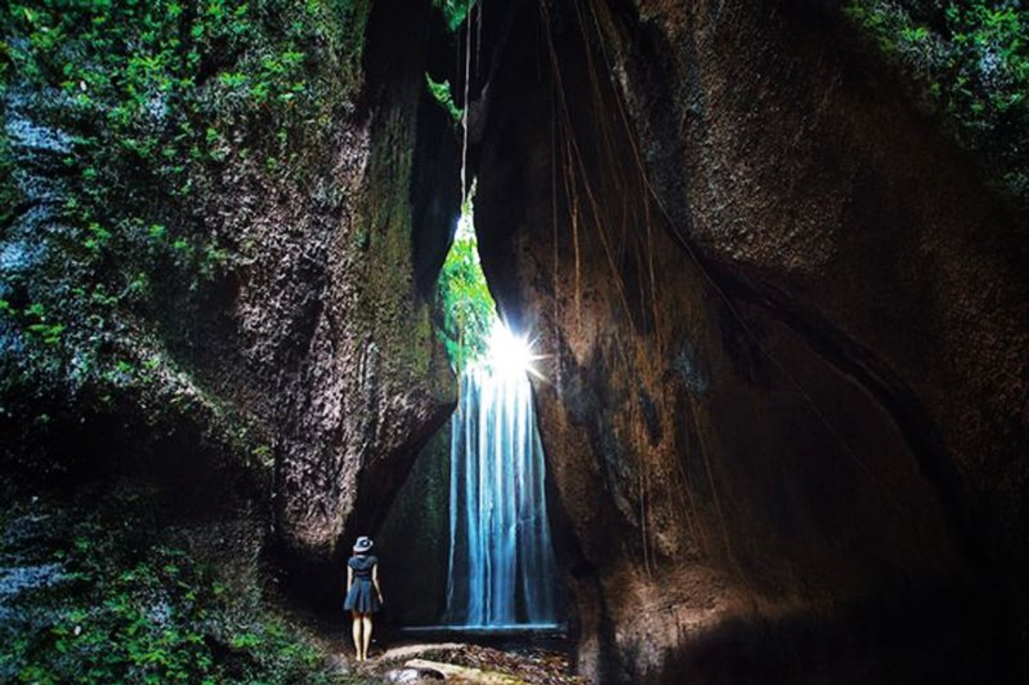 Amazing Bali Hidden Canyon with Tukad Cepung Waterfall Tour