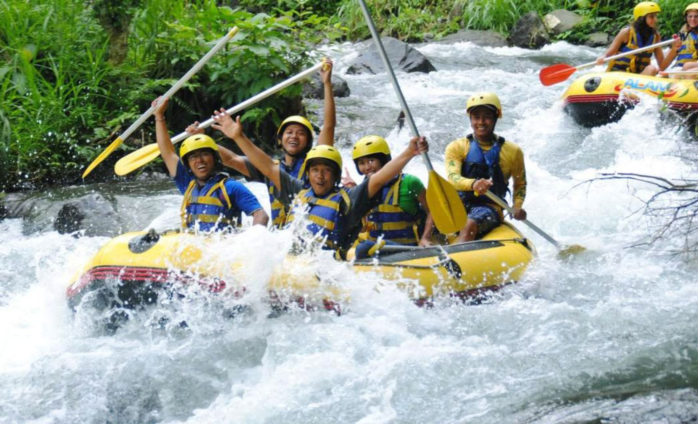 Ubud White Water Rafting Adventure Jungle River