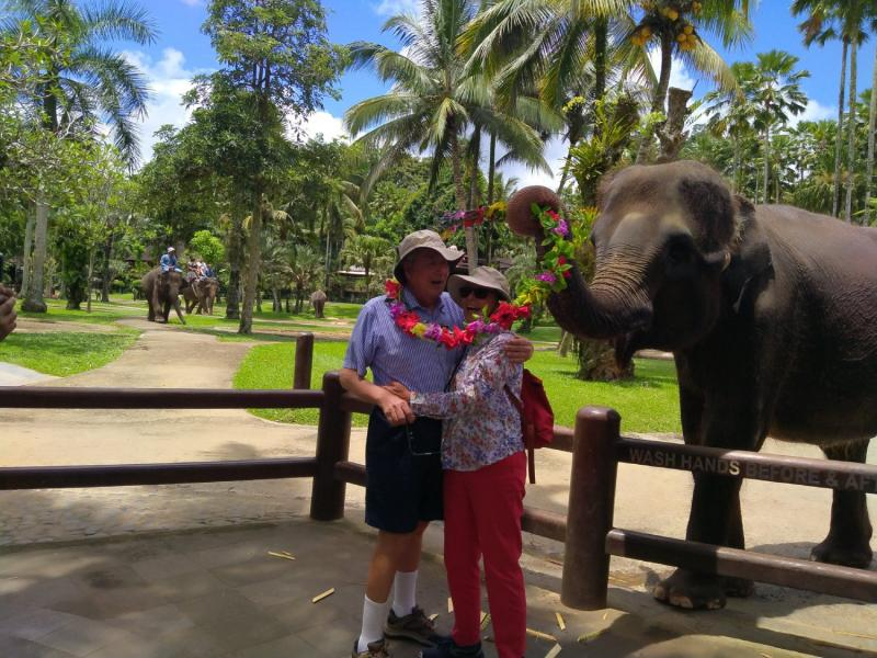 Elephant riding Bali