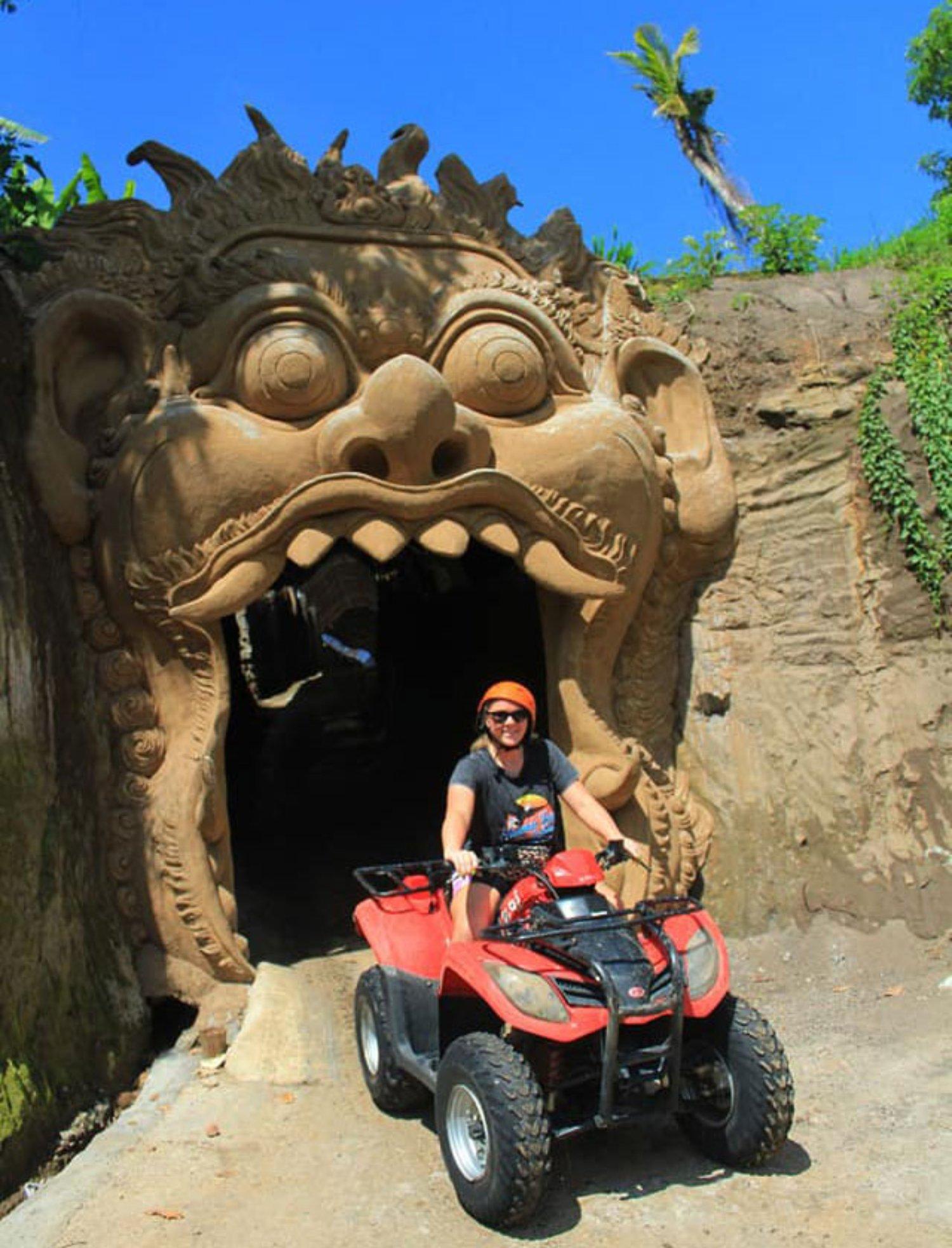 Bali Quad Bike Adventure Get Through Cave Route