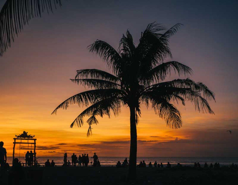 Beautiful Sunrise on Seminyak Beach