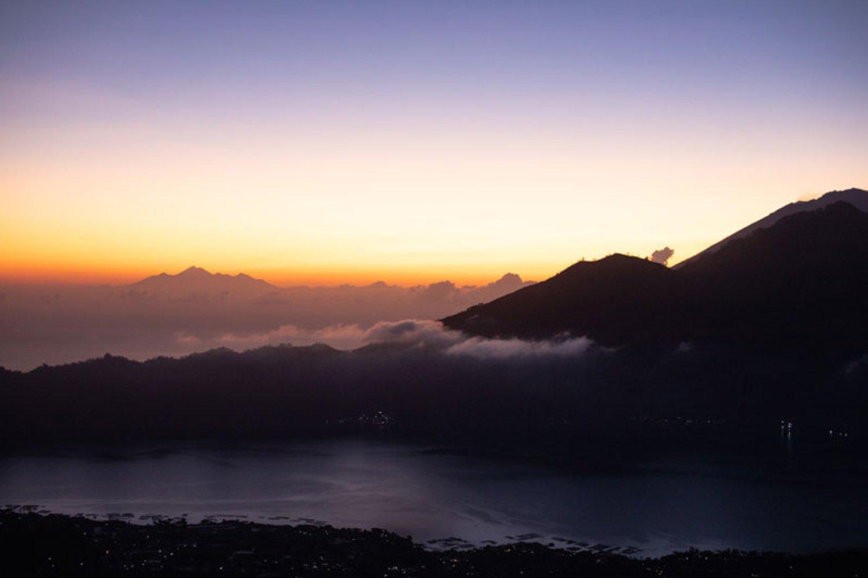 Mount Batur with Wonderful Sunrise and Calderas