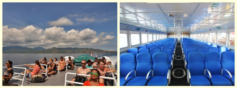 sun deck and the cabin of Eka Jaya boat
