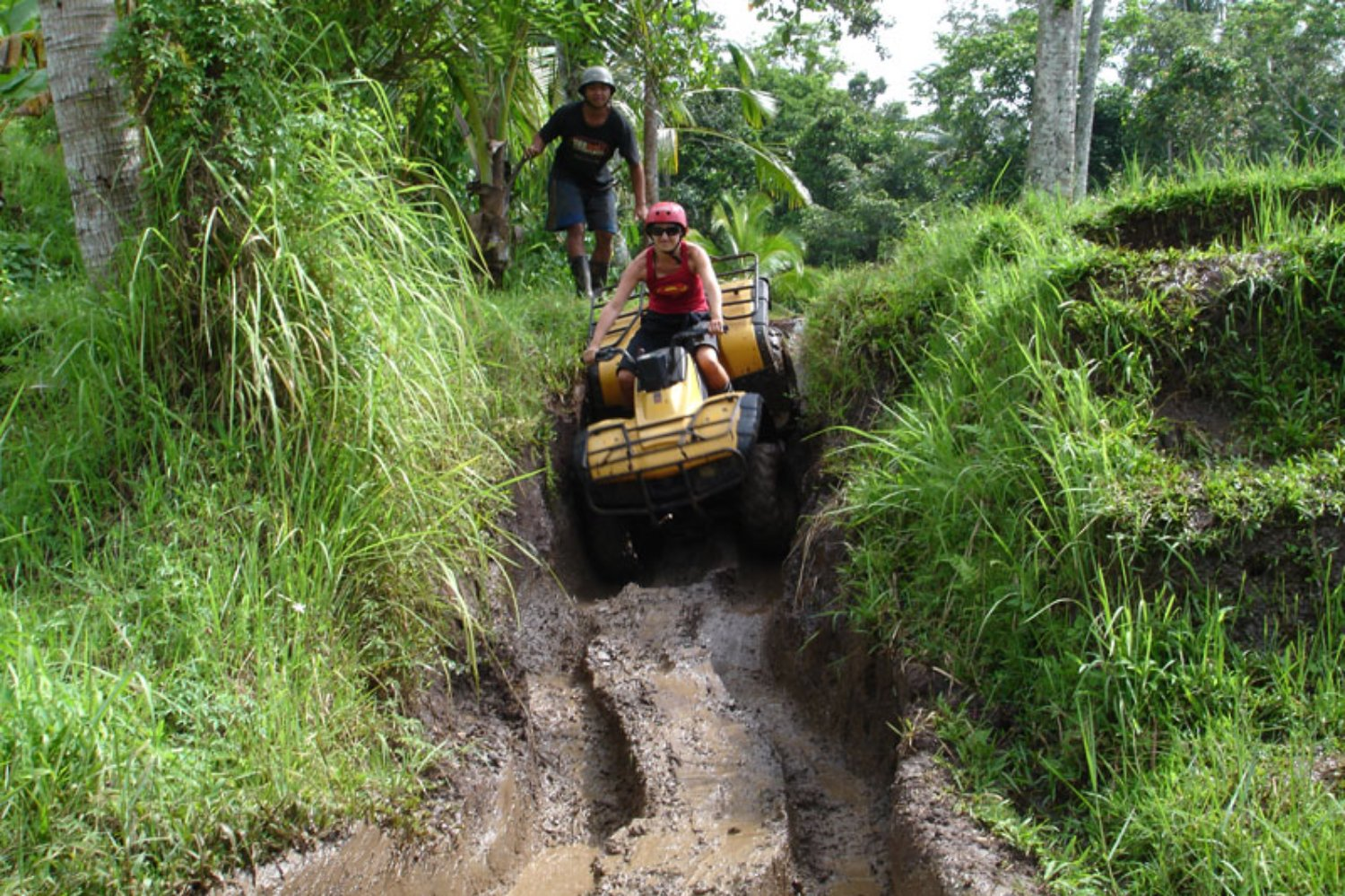 Ride Quad Bike in Wet and Muddy Track Bali
